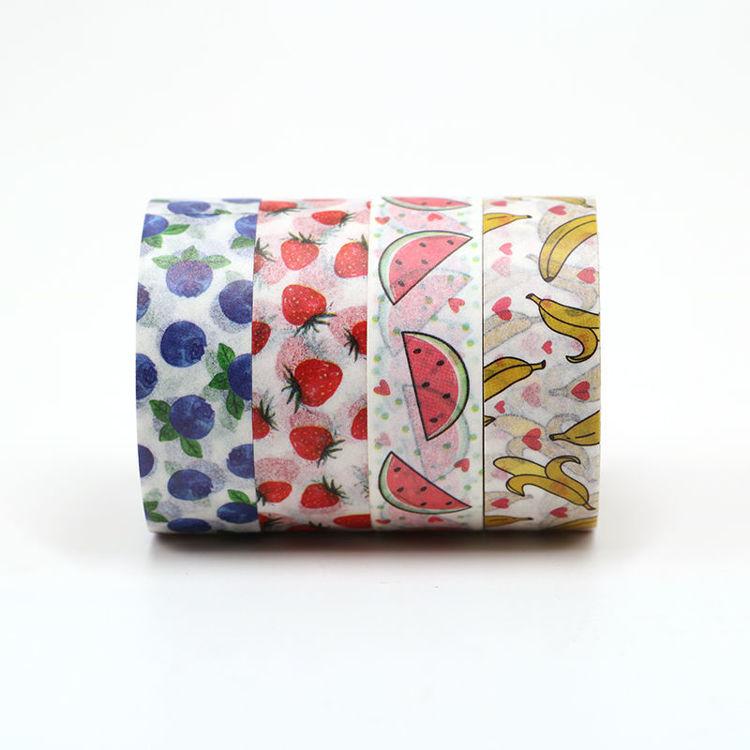 4 rolls fruit printing washi tape set