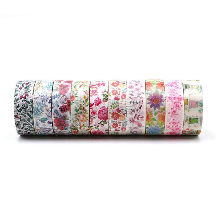 10 rolls summer flowers printing washi tape set