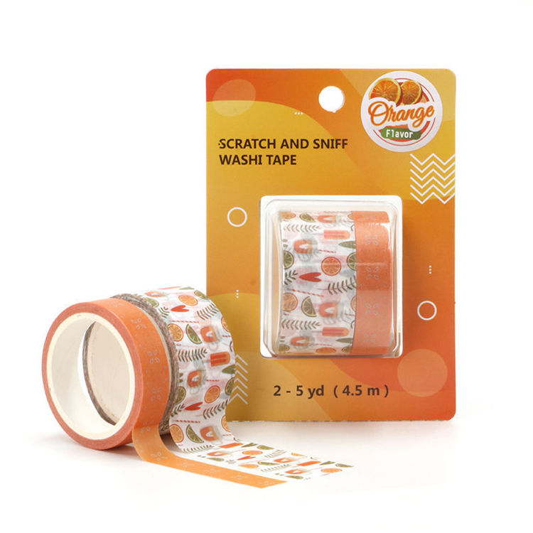 Orange flavor printing washi tape