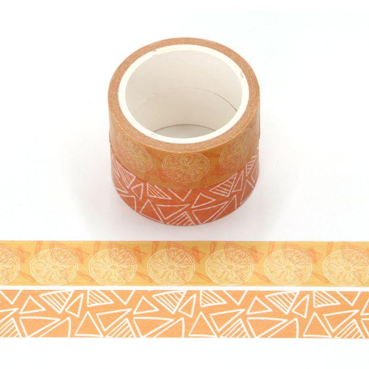 Orange scent printing washi tape