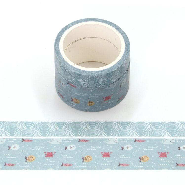 Ocean flavor printing washi tape