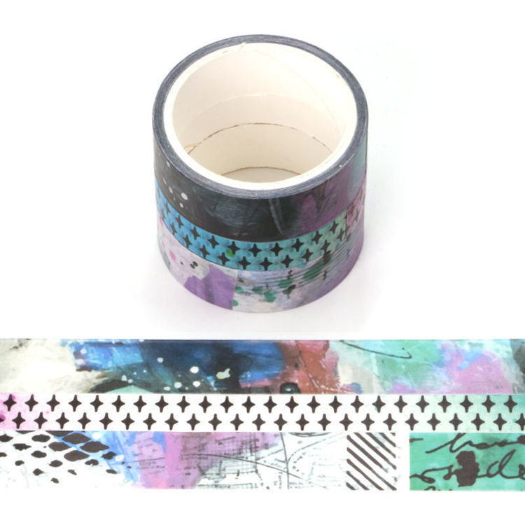 3 rolls set Art Journaling And Stencil Series washi ape