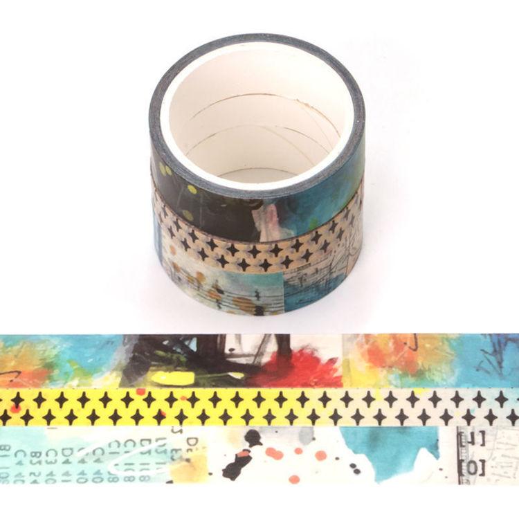 3 Rolls set art journaling series washi tape