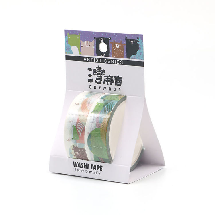 Cartoon series go hiking printing washi tape