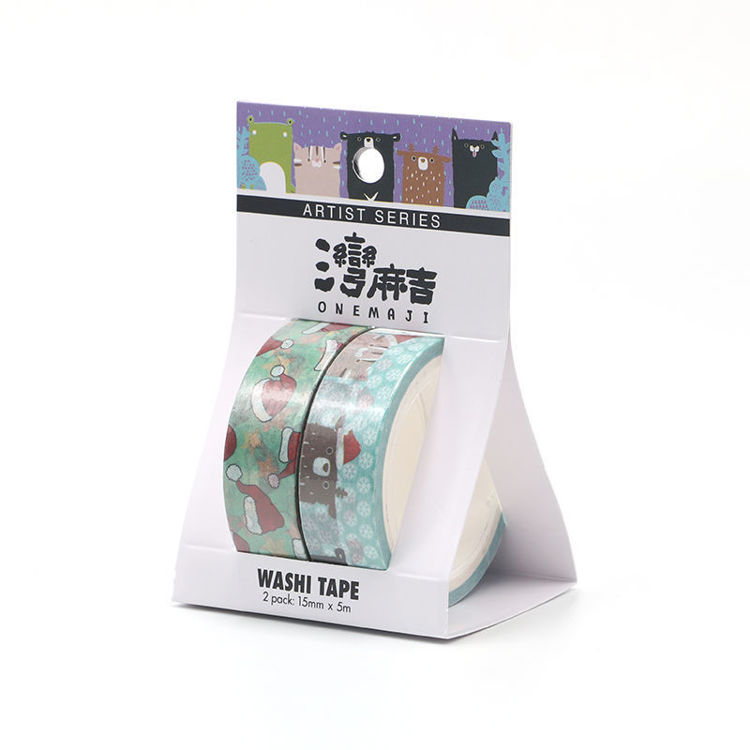 Cartoon series Christmas design printing washi tape