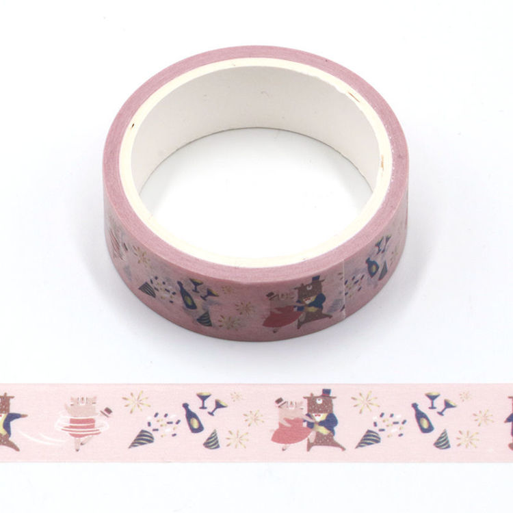 cartoon series pink love design printing washi tape