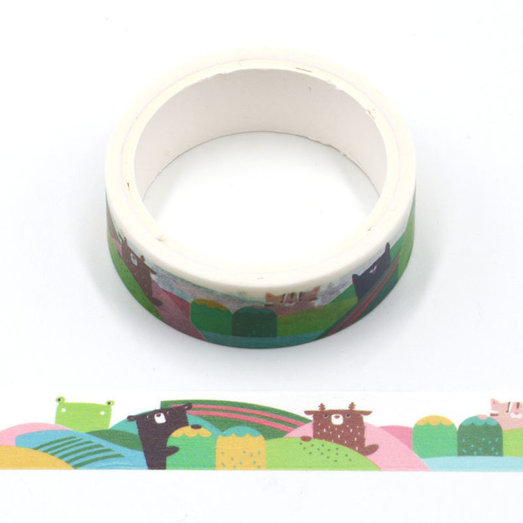 Cartoon design travel printing washi tape