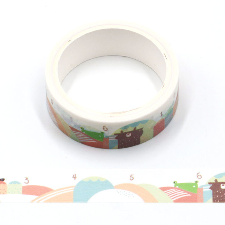 Cartoon series mountain printing washi tape