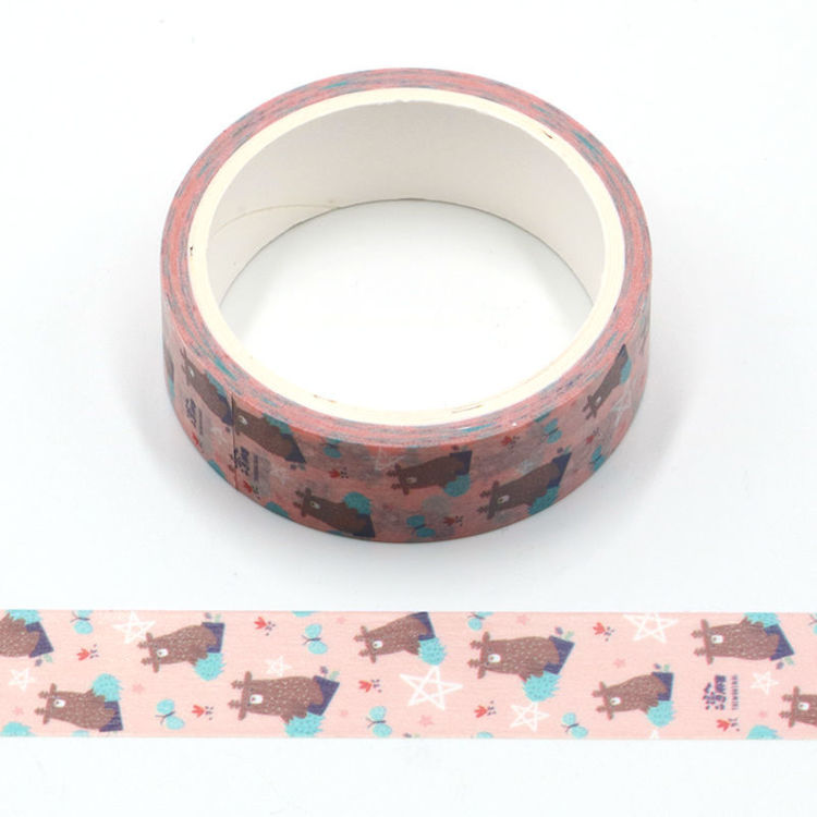 Cartoon design animal deer printing washi tape