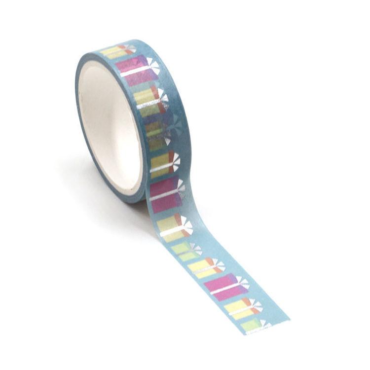 Give present sliver washi tape