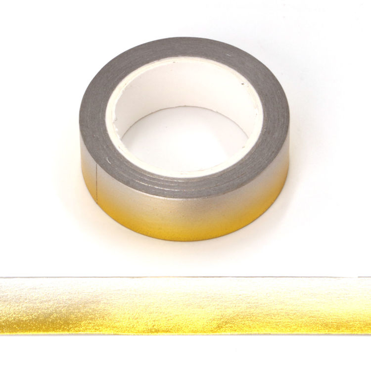 Gold foil grey washi tape