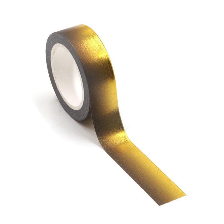 Gold foil black washi tape