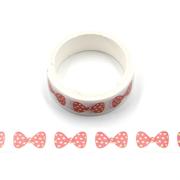 Gold star red bowknot washi tape