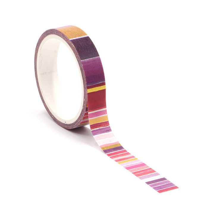 Gold foil red blackground washi tape