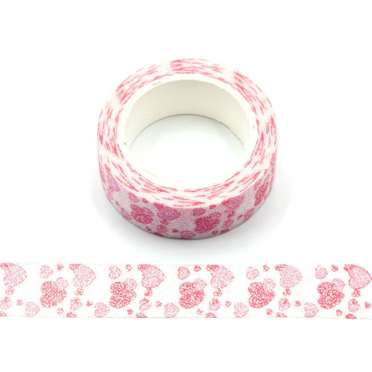 Heart on valentine's day pink sparkle tape