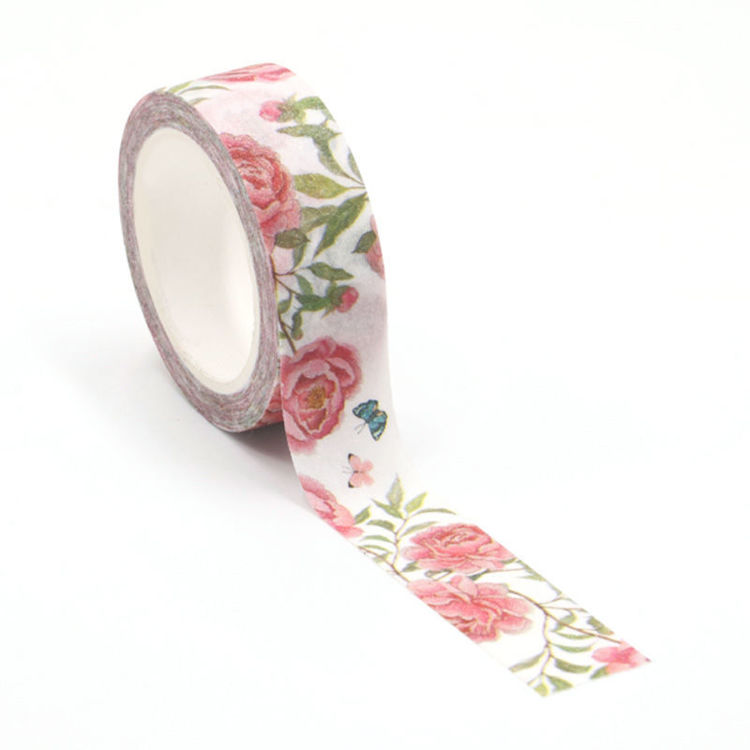Frosted flash film flowers butterfly washi tape