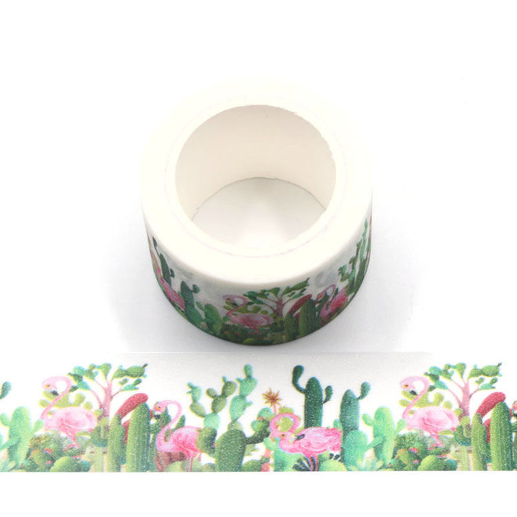 Flamingo flash film washi tape