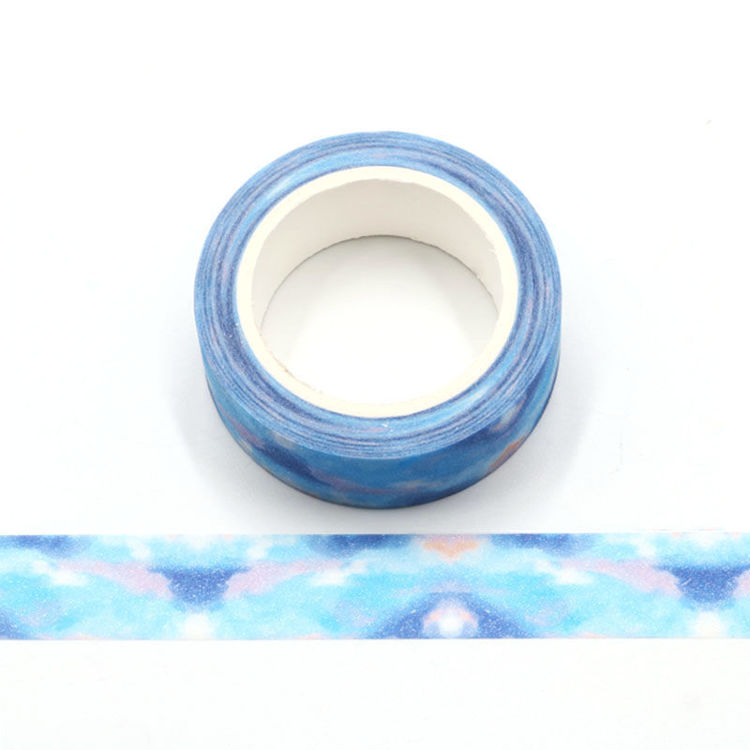 Dream blue frosted flash film washi tape