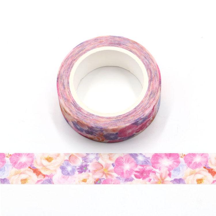 Flowers blooming flash film washi tape
