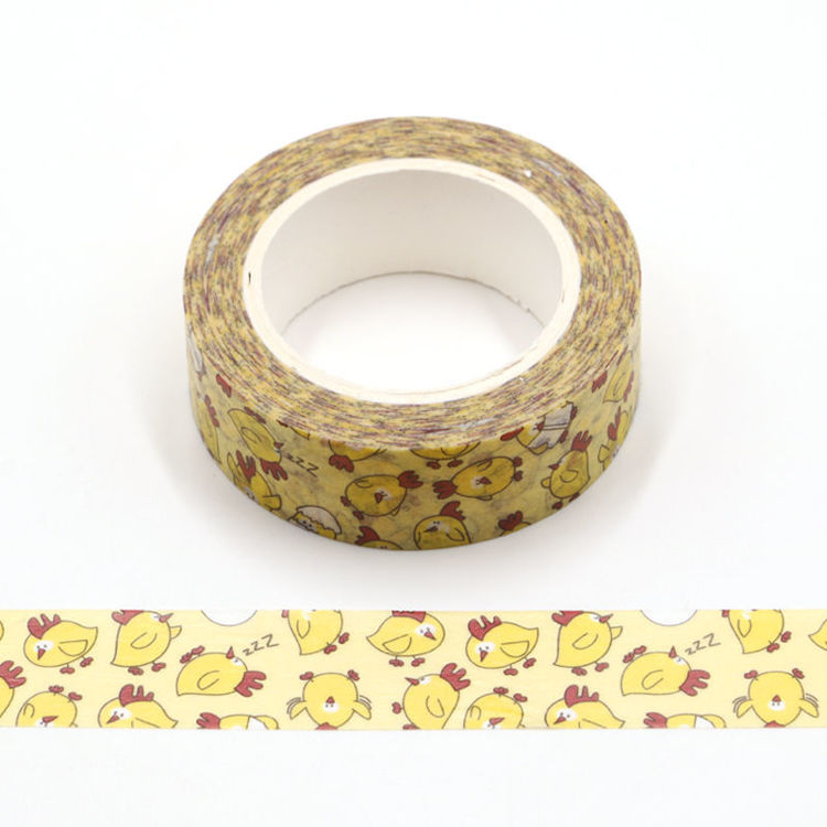 Yellow chick cmyk washi tape