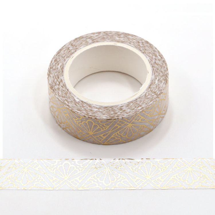 Gold foil flowers washi tape