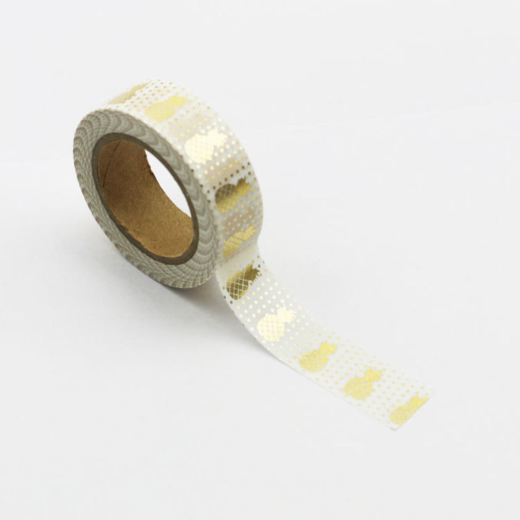 Gold Pineapple Foil Washi Tape