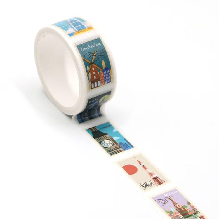 Landmark stamps easy tear washi tape