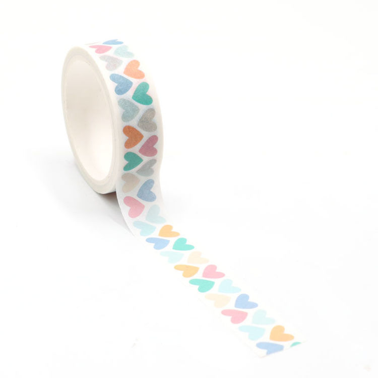 Colorful hearts printing washi tape 15mm*5m