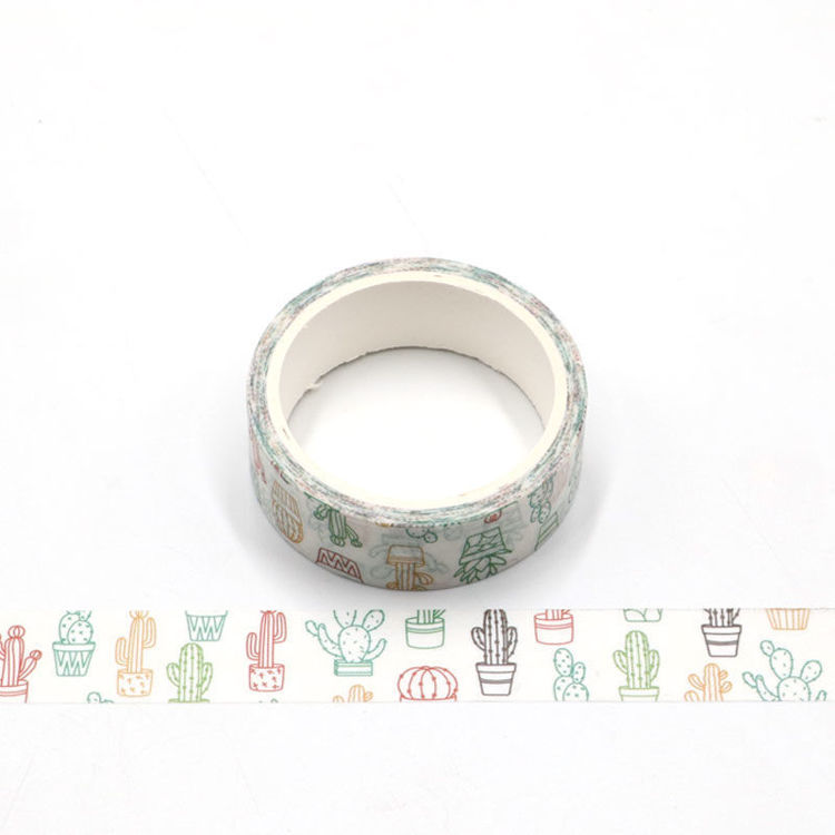 Cactus printing washi tape 15mm*5m