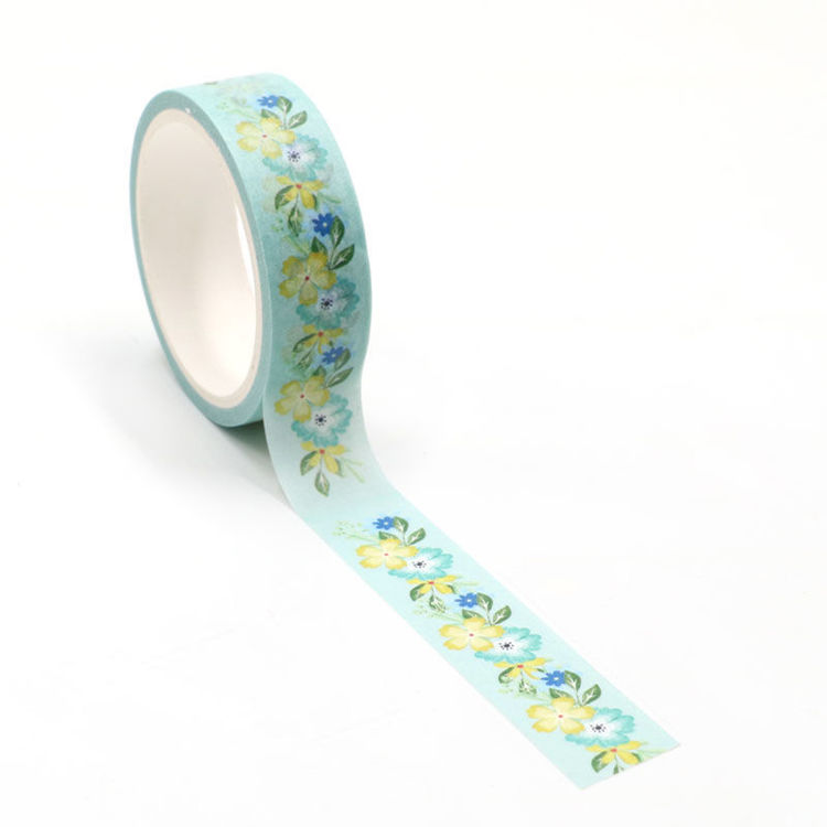 Yellow flowers printing washi tape 15mm*5m