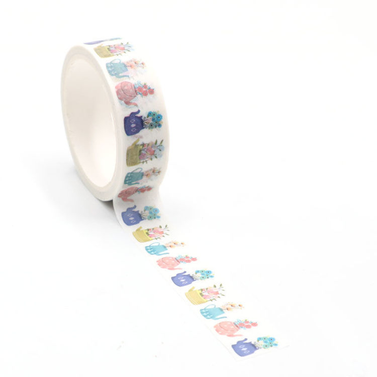 Spring flowers printing washi tape 15mm*5m