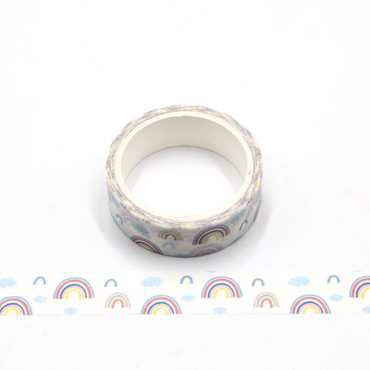 Rainbow printing washi tape