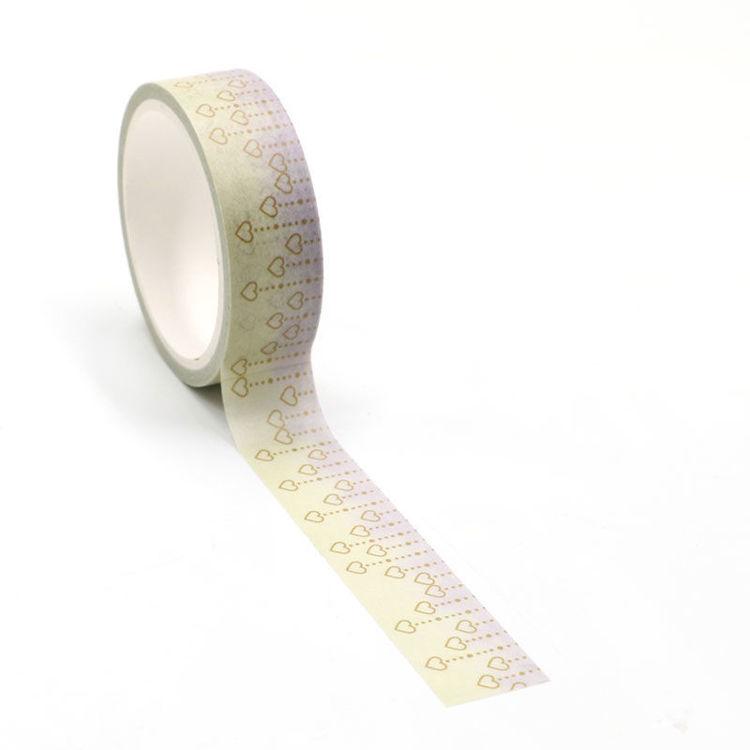 Heart printing washi tape