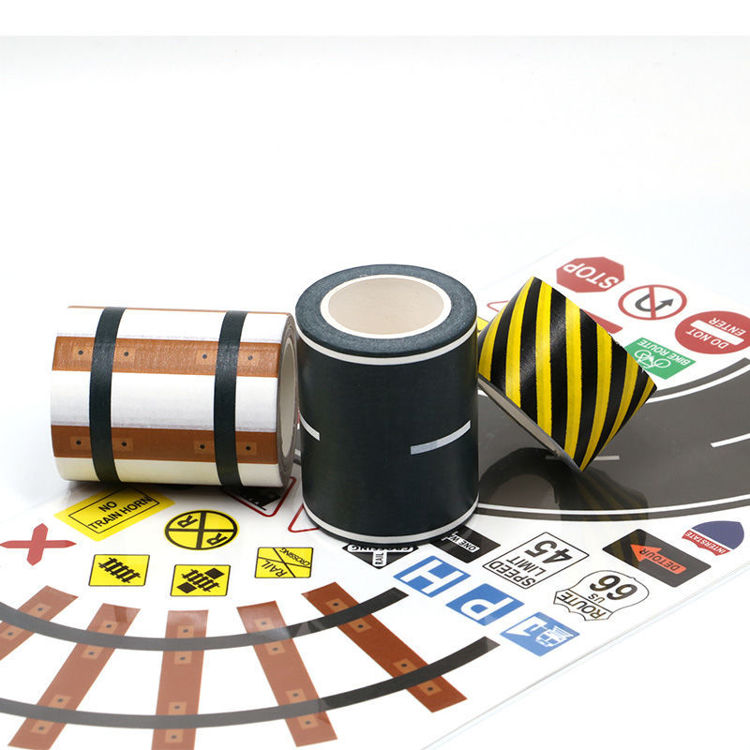 Road washi tape with planner stickers set