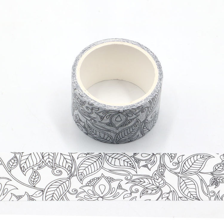 Flowers coloring series and paper tape