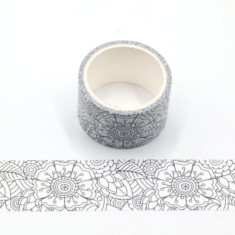 Elaborated Flower Coloring Tape