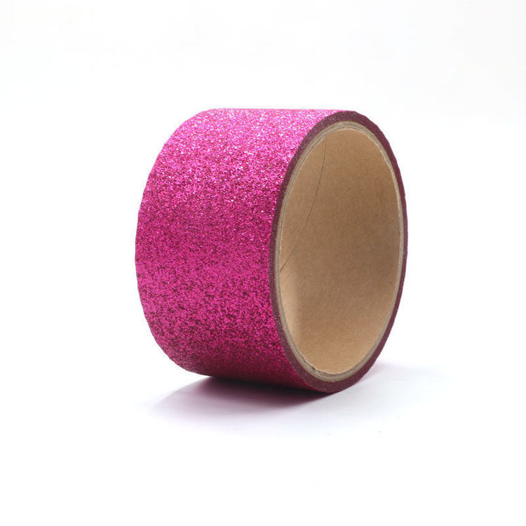 Deep Pink Sparkle Washi Tape