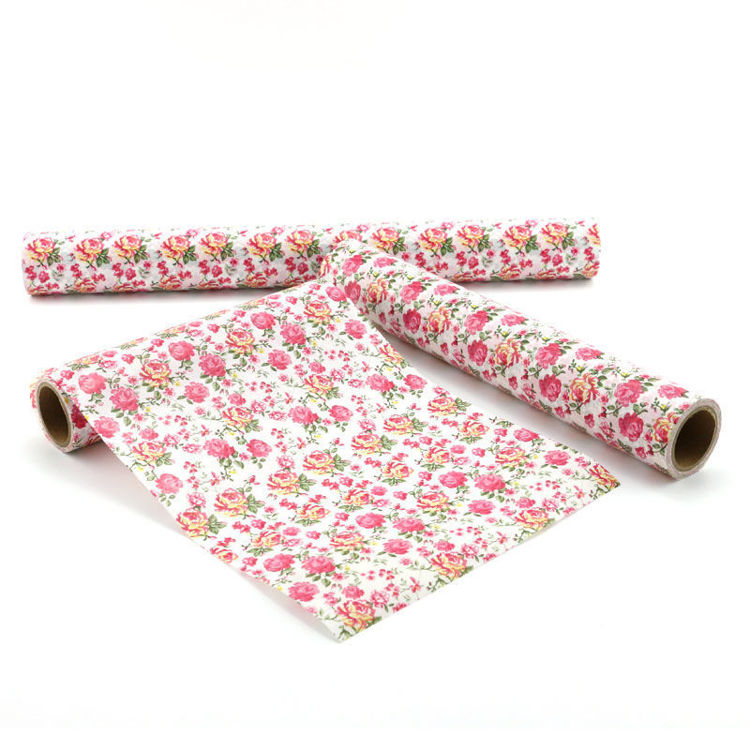 152mm x 5m Three color rose printing wrapping washi tape