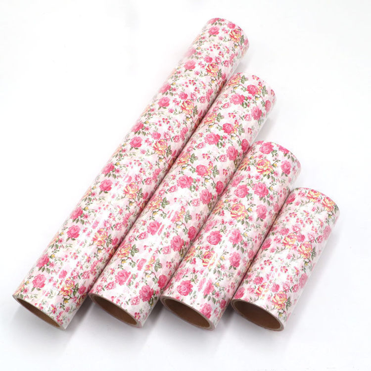 230mm x 5m Three color rose printing warpping washi tape