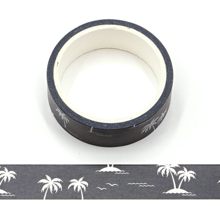 Coconut Trees Silhouette Washi Tape