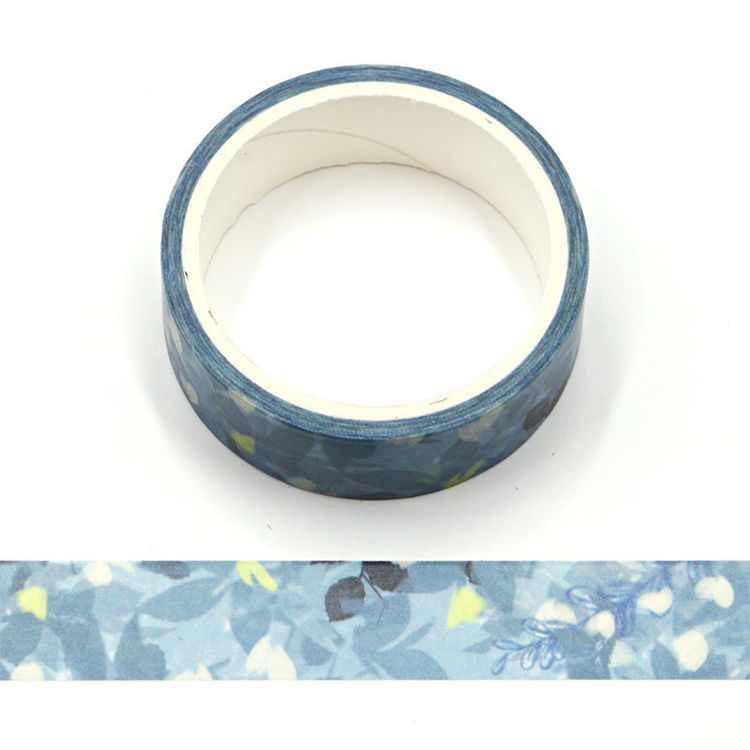 Green Watercolor Flower Washi Tape