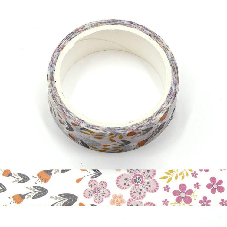 Purple Flowers Washi Tape