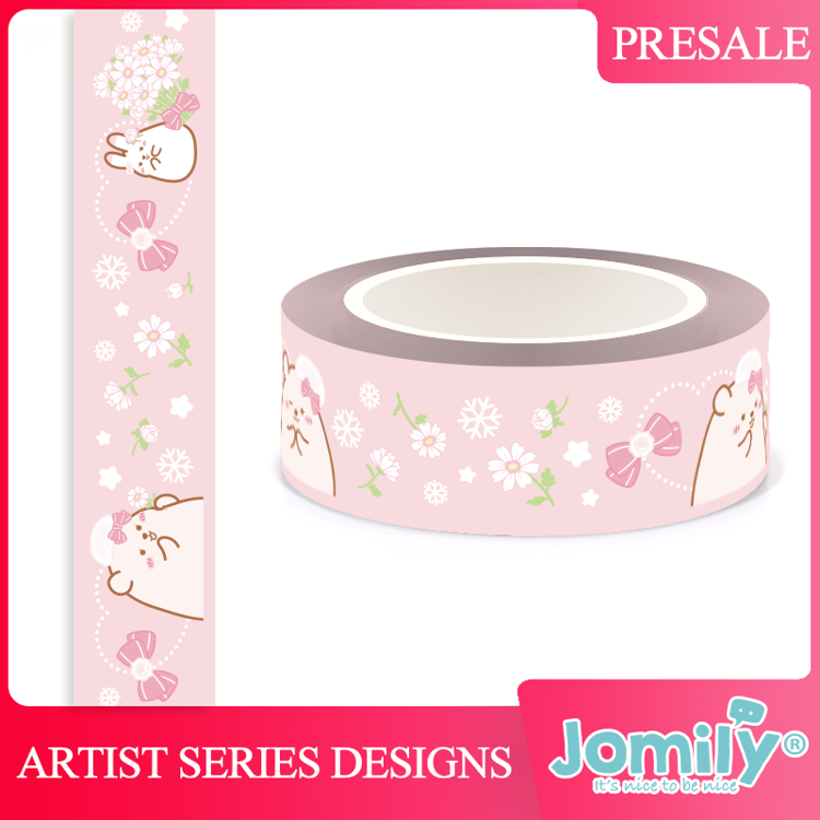 Jomily 15mm x 10m Pink Little Freshness Washi Tape