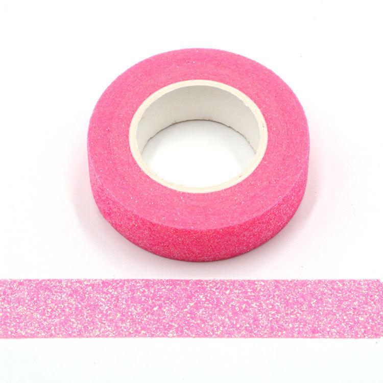 Bright Pink Sparkle Washi Tape