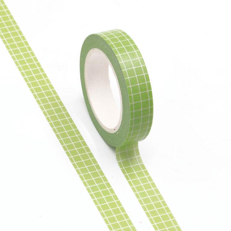 10mm Light Green Grid Washi Tape