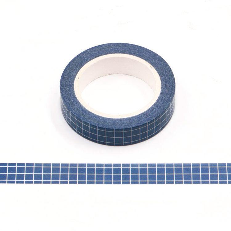 10mm Dark Blue Lattice Washi Tape