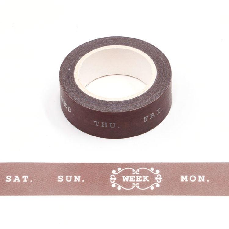 15mm Week Design Washi Tape