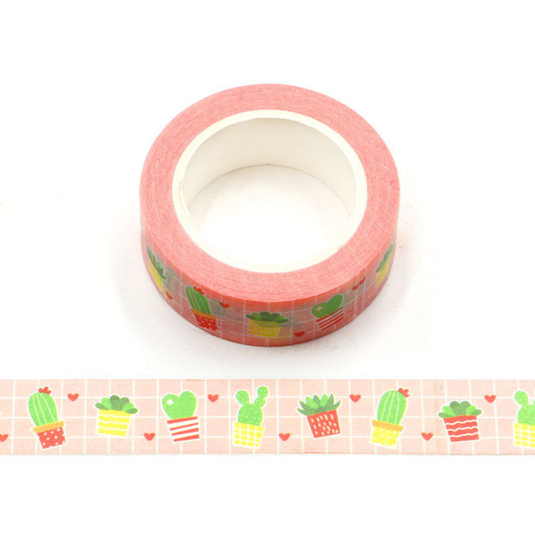 15mm x 10m CMYK Cactus And Heart Washi Tape