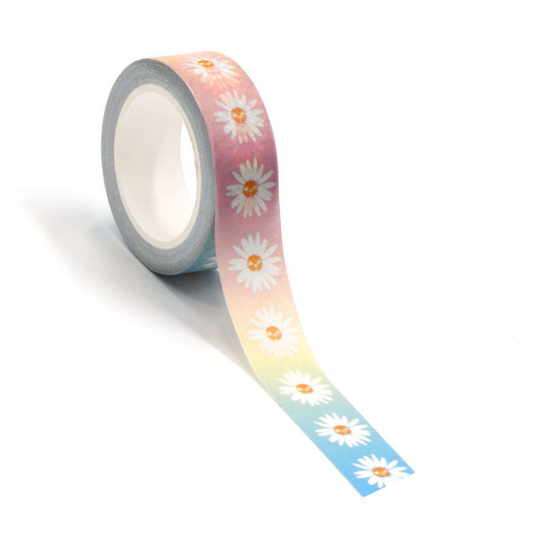15mm x 10m CMYK Daisy Washi Tape