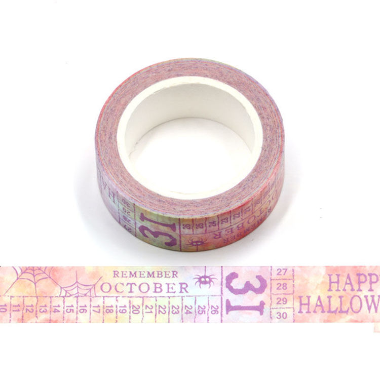 15mm x 10m CMYK Happy Halloween Washi Tape